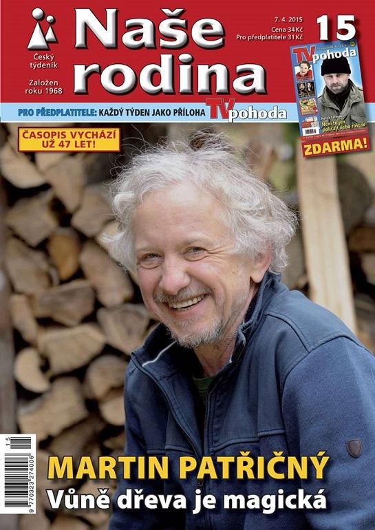Martin Patřičný na obálce časopisu Naše rodina