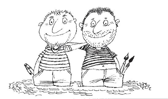 Autor a ilustrátor rukou Juraje Martišky